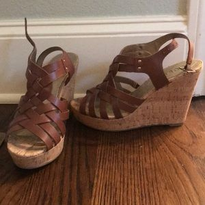 Guess Brown Wedges Size 6